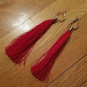 Jewelry - Red Fringe Earrings